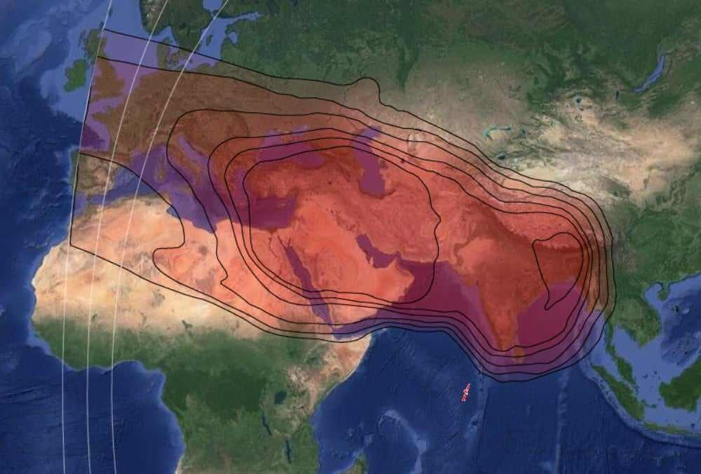 Eutelsat 70B - 70° Est