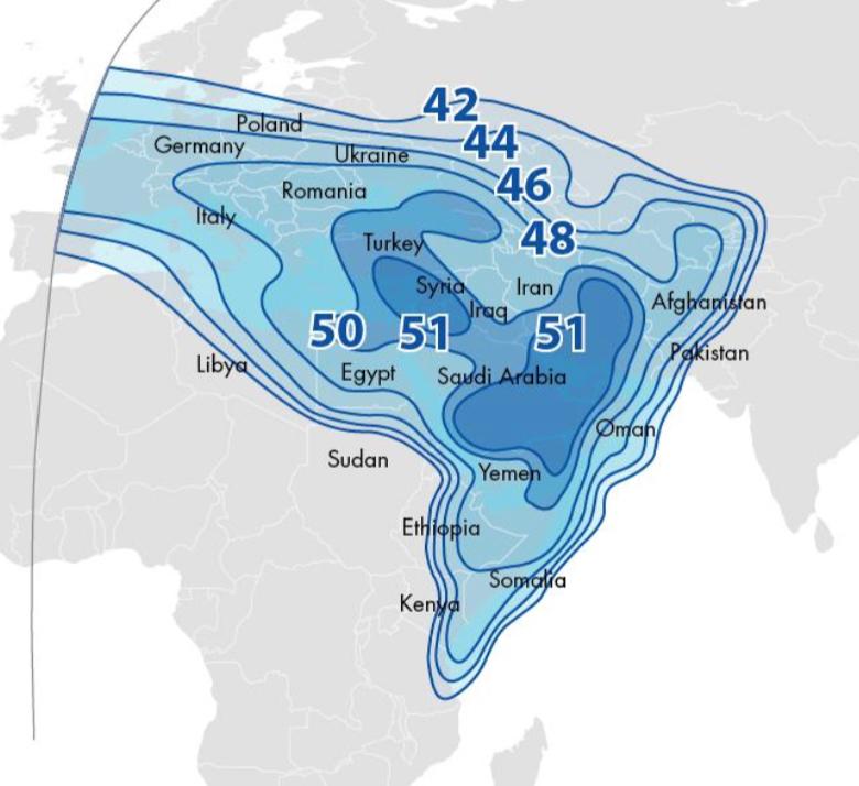 Satellite Coverage Maps | Global VSAT | BusinessCom Networks