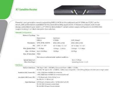 X7 Satellite Router