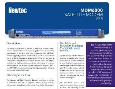 Newtec MDM6000 Satellite Modem