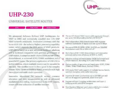 UHP-230 Universal Satellite Router